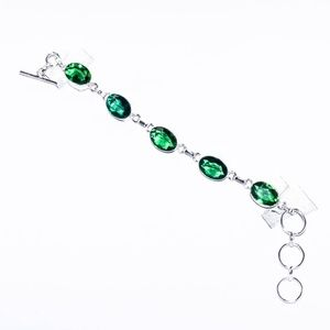 Silver Bracelet With Peridiot Gemstones
